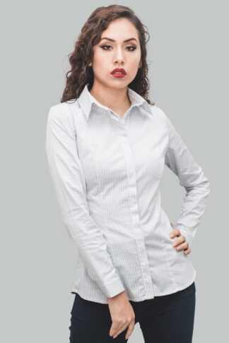camisa de rayas mujer